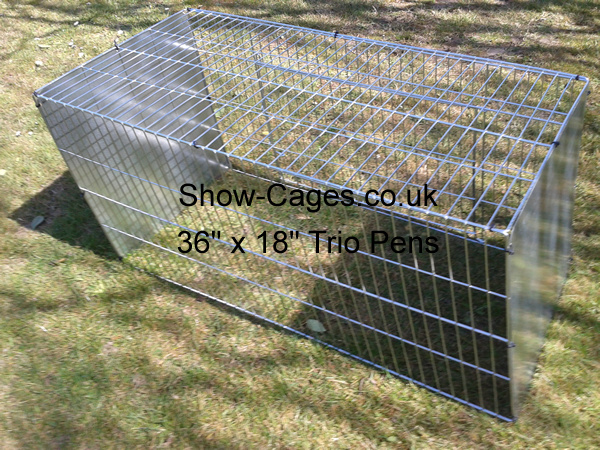 "36"" x 18"" show cages designed and built for trios, pheasants, male bantam longtails."
