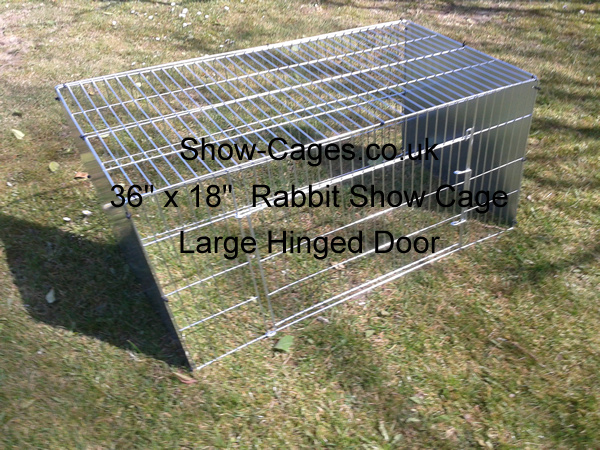 Much larger show pens for rabbits, wide hinged door